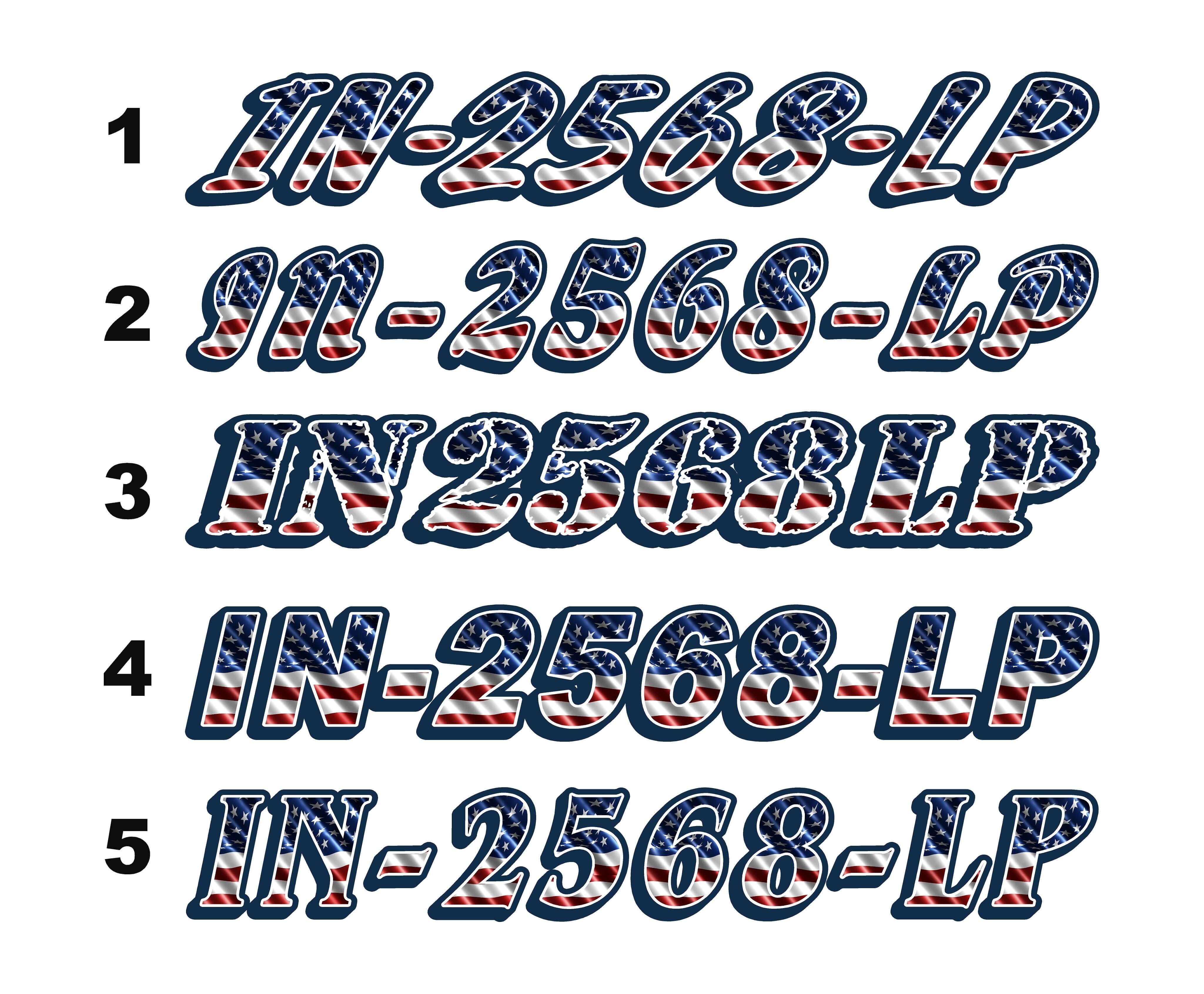 2 Sticker Boat Flag Boat Number Boat Label