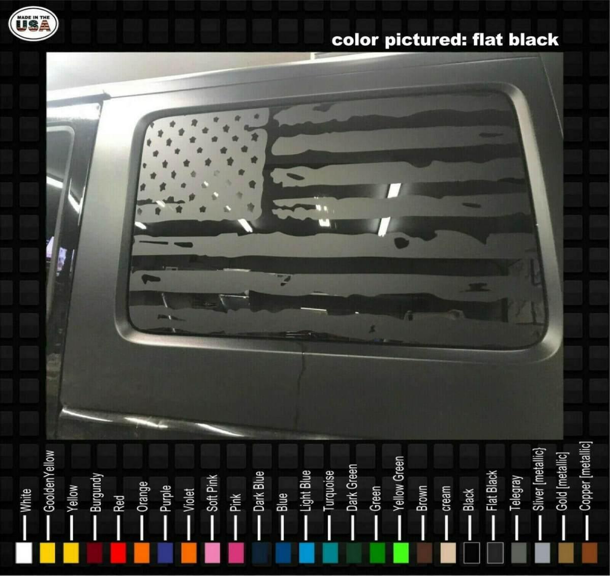 Jeep USA flag Camo Vinyl Decal Wrangler 4x4 CJ RubiconTruck window sticker