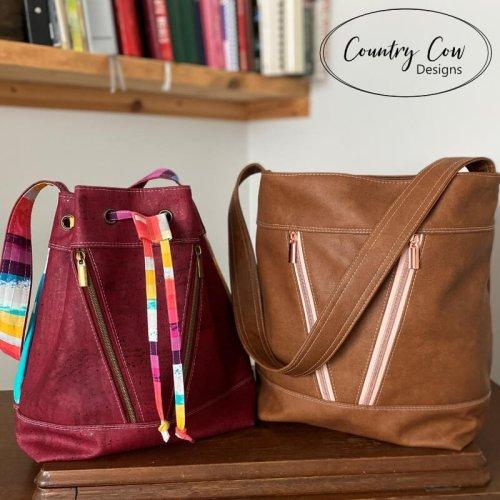 Deyjon Bucket Bag Drawstring and ZIp Top Versions