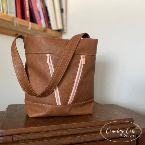 Zip Top Deyjon Bucket Bag