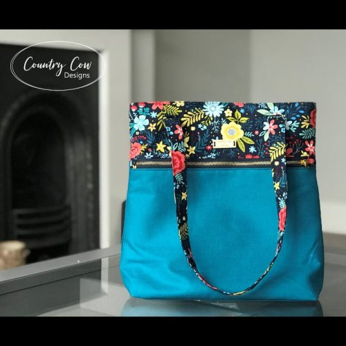 Wanderlust Tote Made by Country Cow Designs
