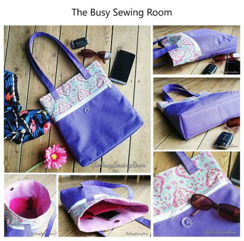 Wanderlust Tote Made by The Busy Sewing Room