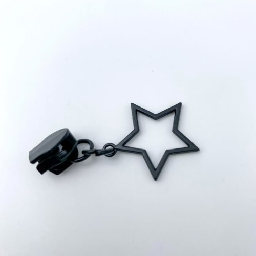 Black Star Zip Pulls