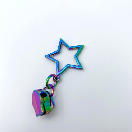 Rainbow Star Zip Pulls