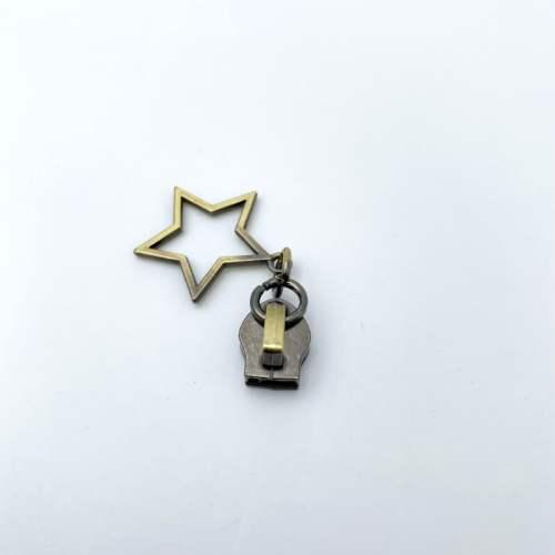 Brass Star Zip Pulls