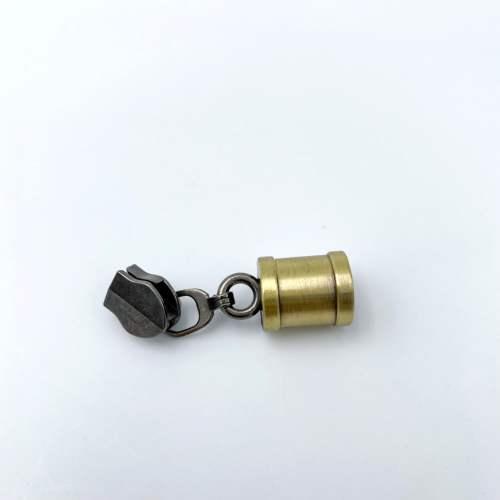 Brushed Brass Tassel Zip No.5 Size