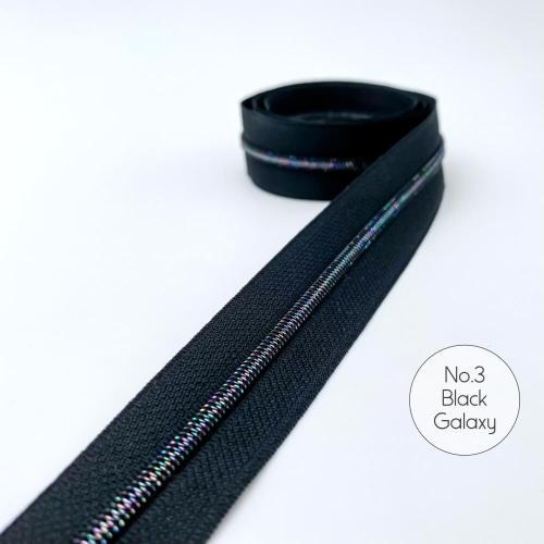 No.3 Black Galaxy Zipper Tape