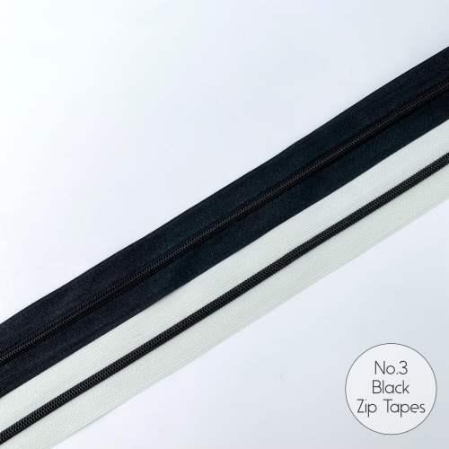 No.3 Black Zip Tapes