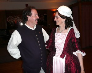 Bill and Patricia Campbell at a Colonial Ball