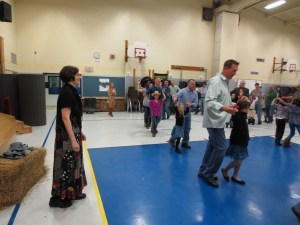 Patricia Campell, Dance Caller leading a girl scout dance