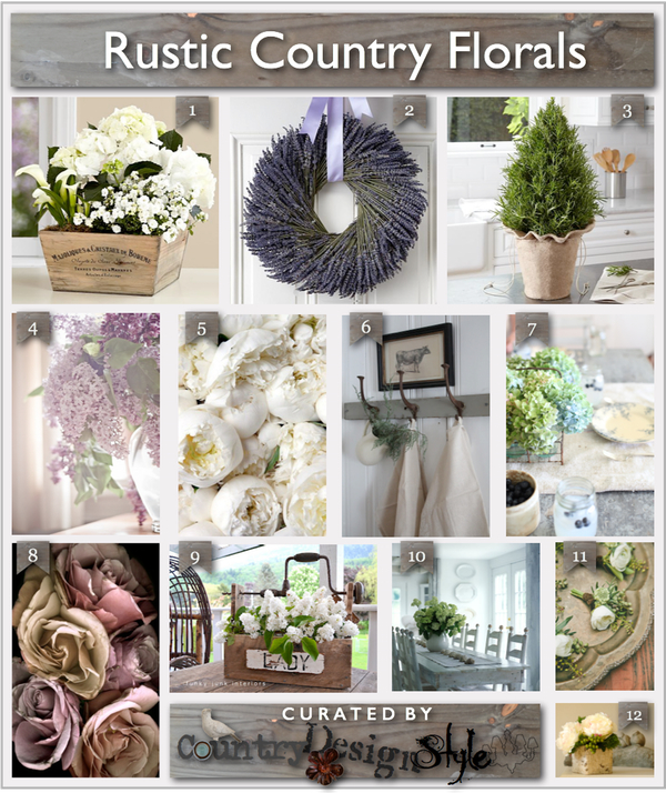 Floral Inspiration Board Country Design Style