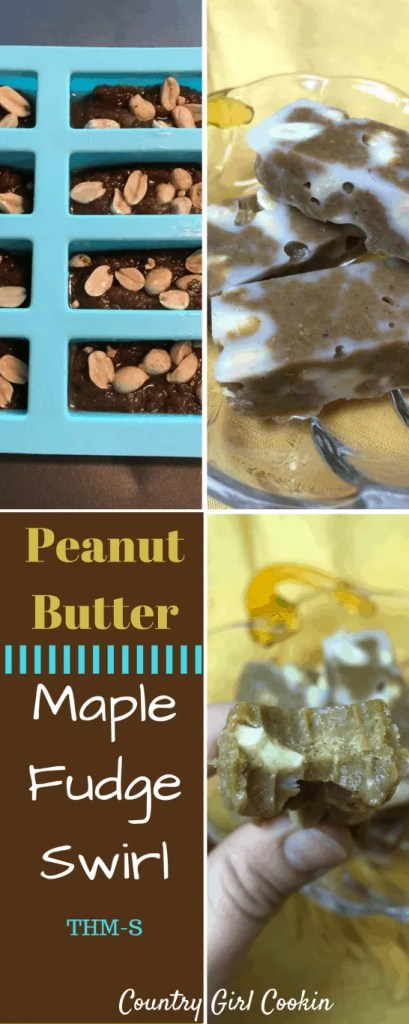 Peanut Butter Maple Fudge Swirl (THM-S, Sugar-Free)