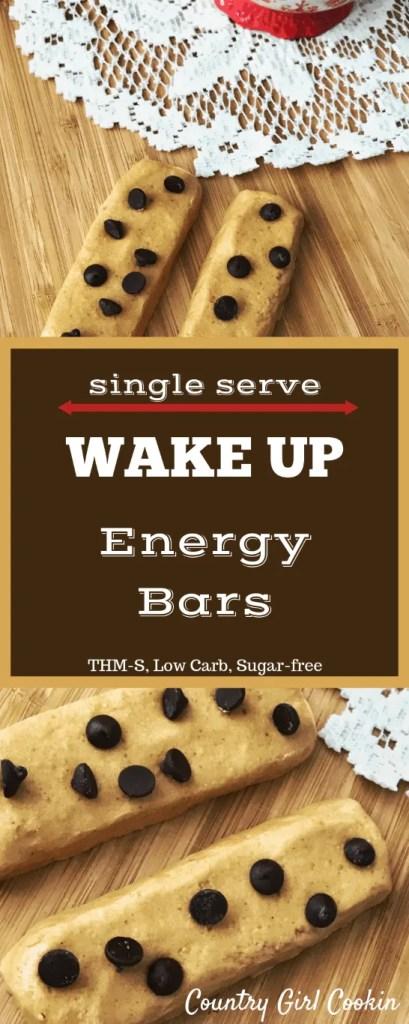 Single Serve Wake Up Energy Bars (THM-S, Low Carb, Sugar-free)