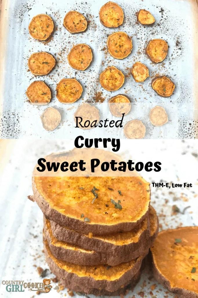Roasted Curry Sweet Potatoes (THM-E, Low Fat)