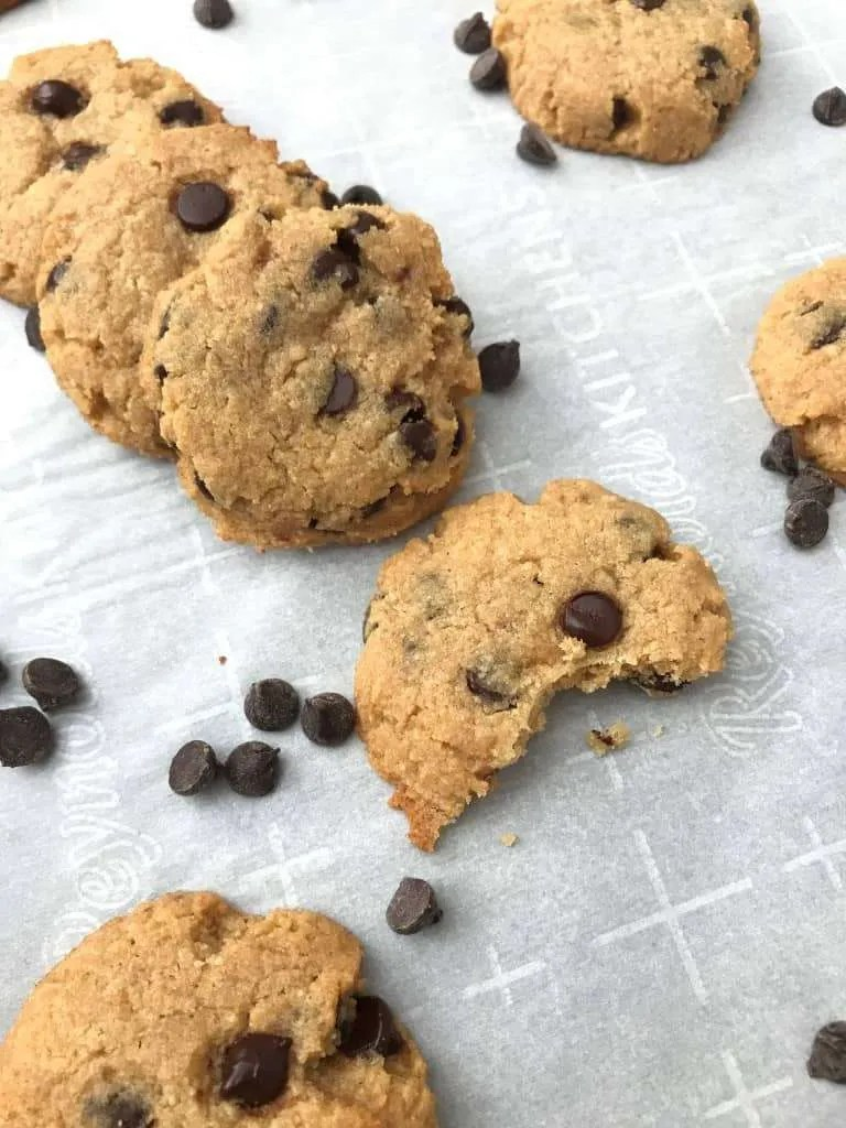 Sugar Free Chocolate Chip Cookies (THM-S, Low Carb, Sugar free)