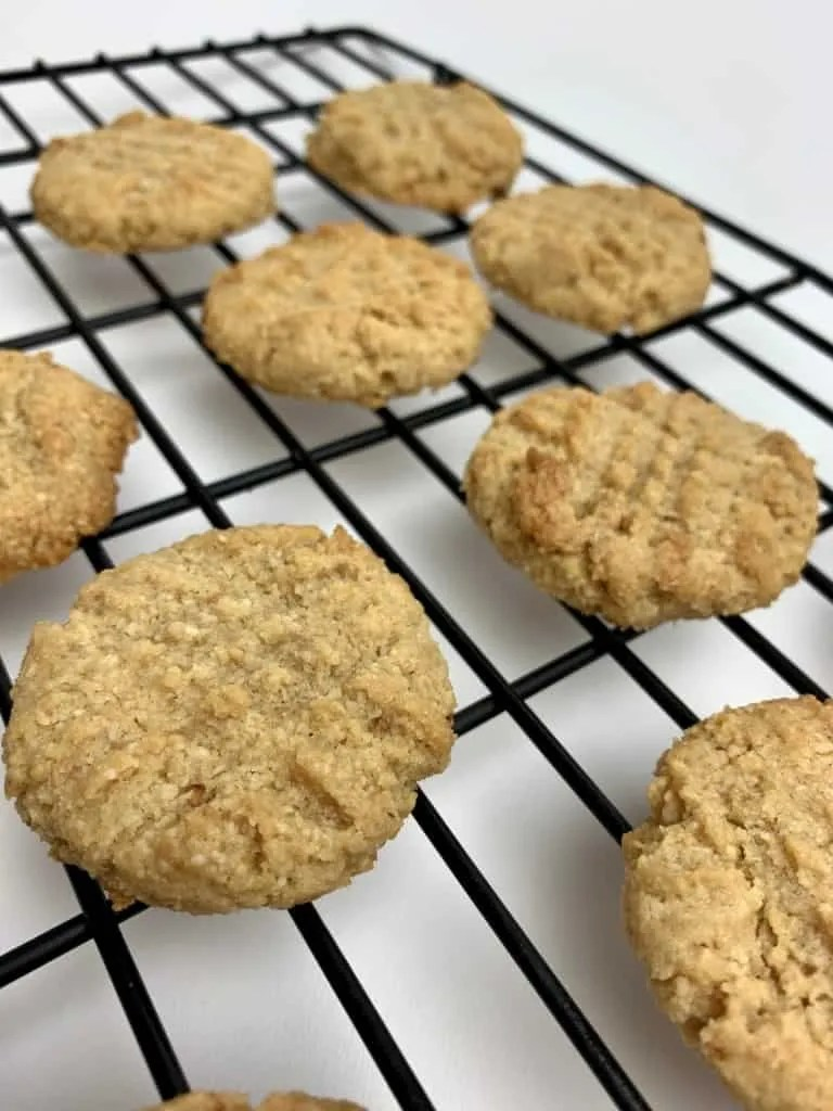 Sugar Free Peanut Butter Cookies (THM-S, Low Carb, Gluten Free)