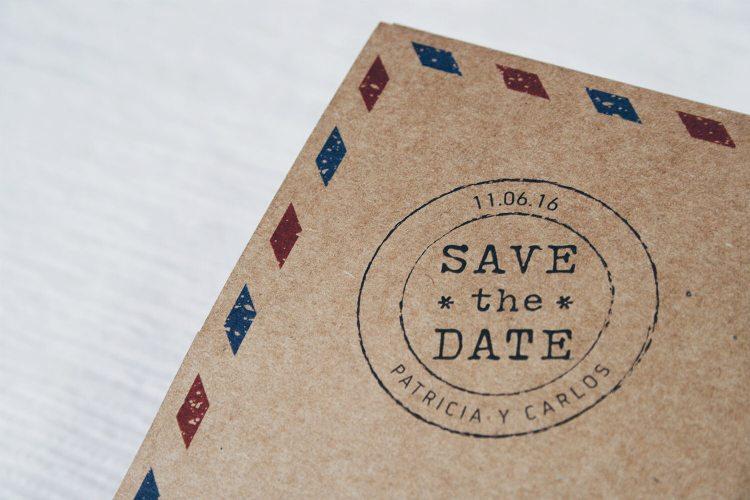 sello viajero personalizado boda
