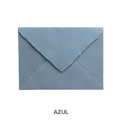 sobre artesanal azul