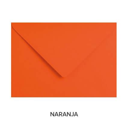sobres de colores económicos naranja