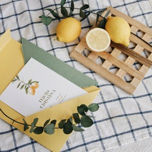 Invitación de boda limones