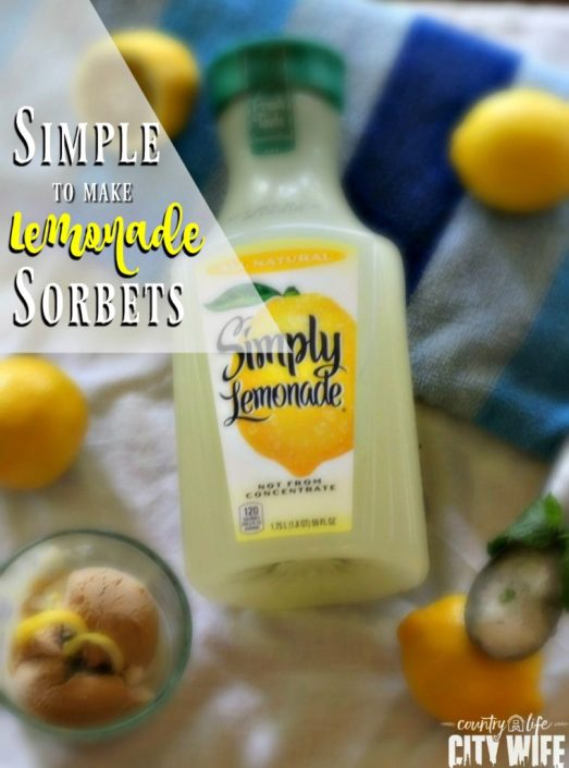 Lemonade Sorbet Recipes