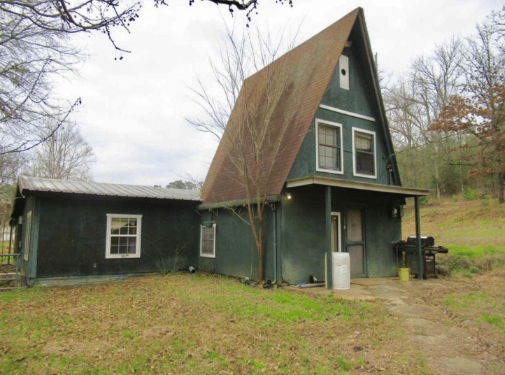 Under $75K Thursday – c.1970 Handyman Special A-Frame Cabin on 1 Acre Big Sandy TX $70,000