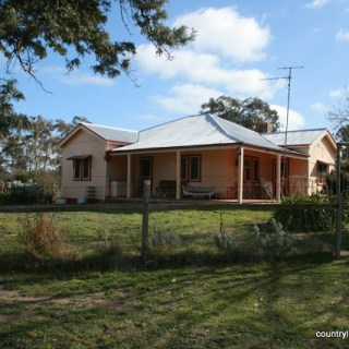Our house, in the middle of the farm…