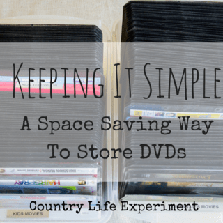 Keeping It Simple | A Space Saving Way To Store DVDs