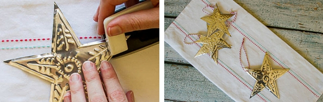 Step by Step Embossed Foil Christmas Stars