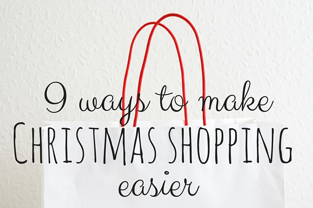 Ways to make Christmas shopping easier