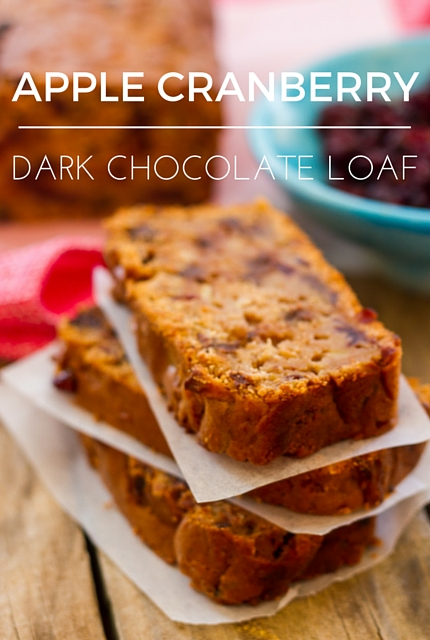 Apple Cranberry Dark Chocolate Loaf