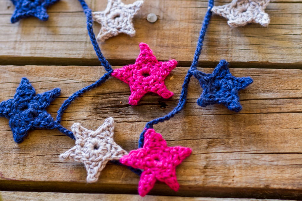 A Crochet Star Garland