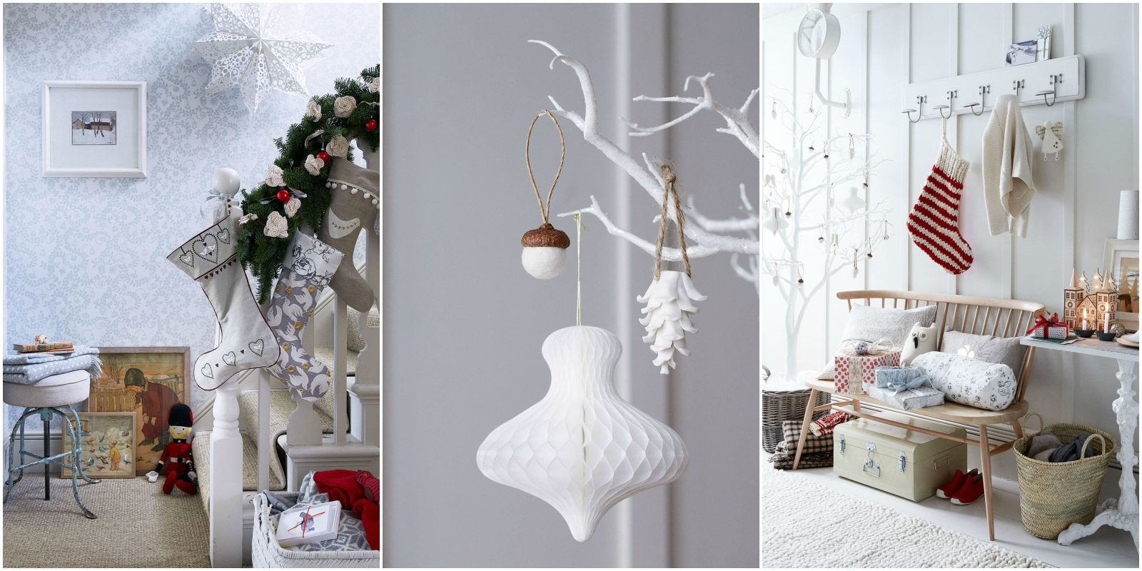 8 ways to decorate your home with white this Christmas   best white     8 ways to decorate your home with white this Christmas   best white  Christmas decorations