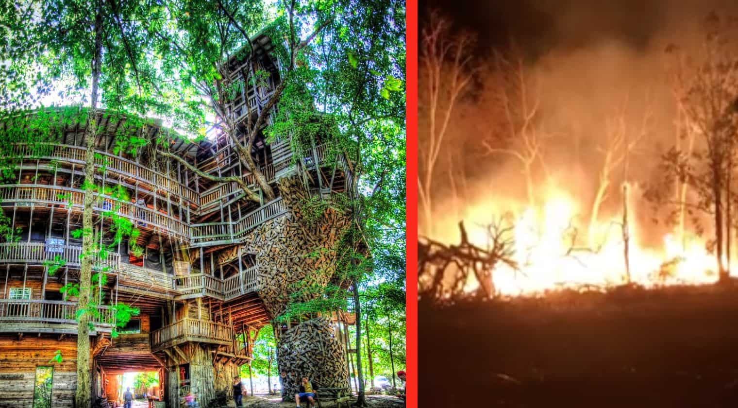 Tennessee World S Largest Treehouse Burns Down Country Music Nation
