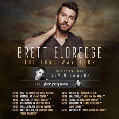 Brett Eldredge Tickets on Country Music On Tour