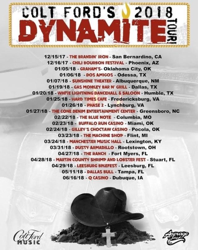Colt Ford Tour Dates