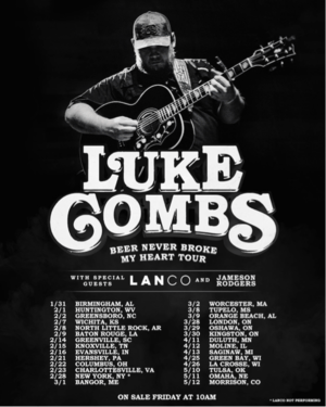 Luke Combs 2019 Tour
