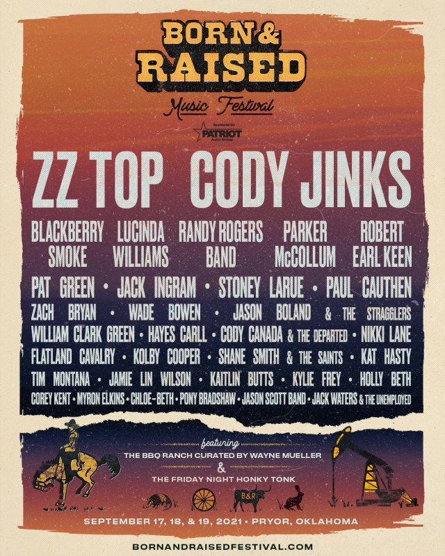 Born and Raised Red Dirt Outlaw Music Festival Tickets