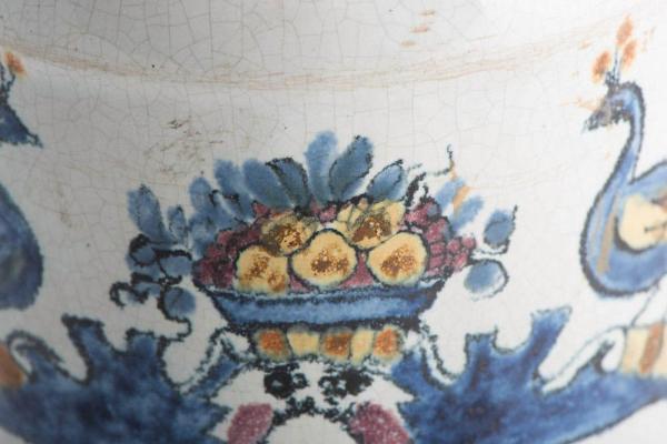 Deft drug jar with lid Closeup Fruit Bowl