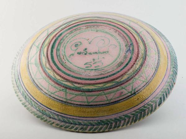 Decorative plate, UK 1940 Back