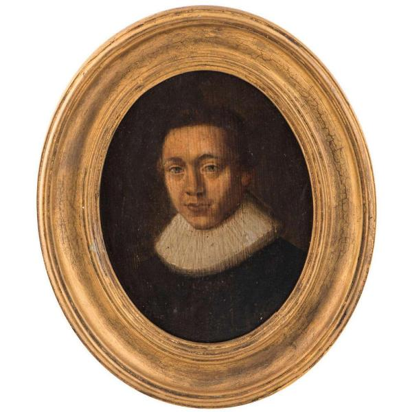 Oil on panel, Continental c.1620 Front Face with Frame
