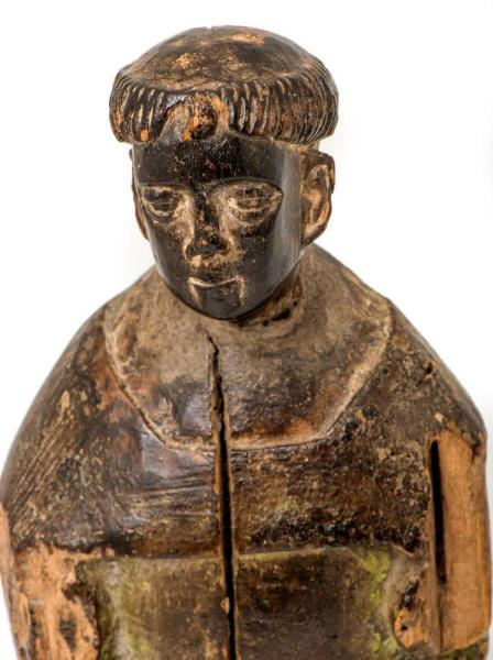 Small lime wood carving, 16th century Closeup of Face