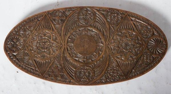 Early chip carving uk, c. 1800 Detail