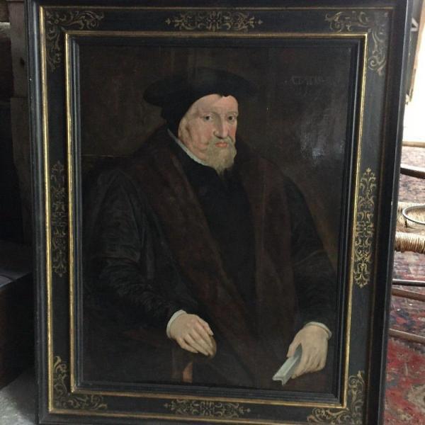 Portrait on oak panel UK, 1569 With Frame