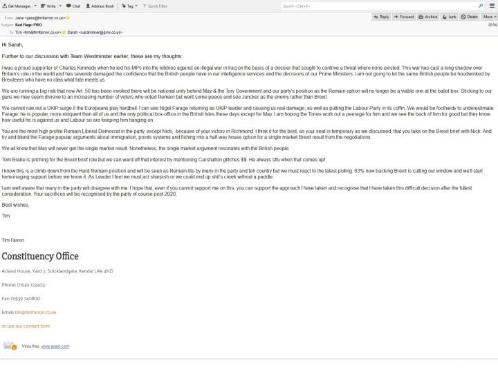 farron april fools email