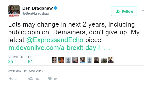 remain tweet bradshaw