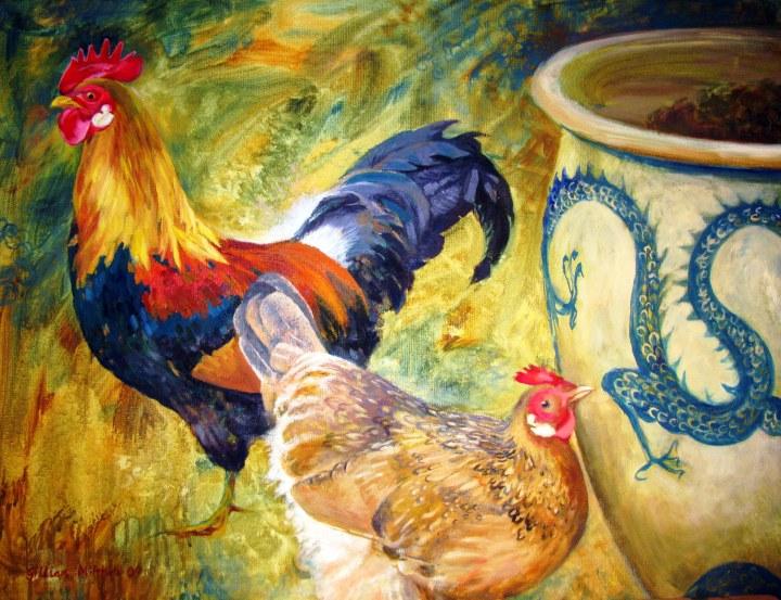 Cock, Hen & Dragon