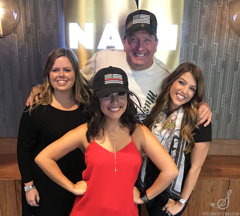 Nash Nights Live Hosts Elaina D. Smith and Shawn Parr with NYCountry Swag's Stephanie Wagner and Christina Bosch