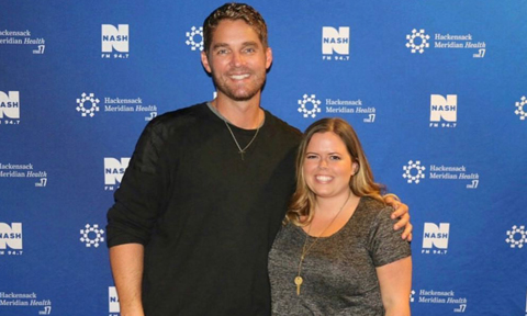 Brett Young with NYCountry Swag Founder, Stephanie Wagner