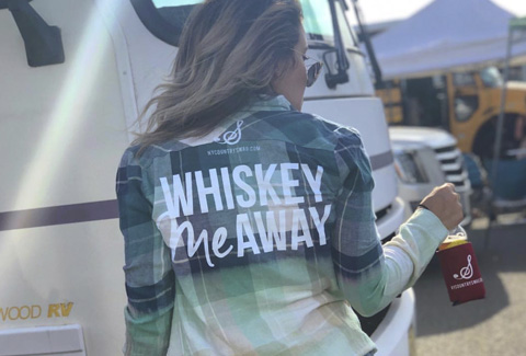 'Whiskey Me Away' Flannel from NYCountrySwag.com Shop